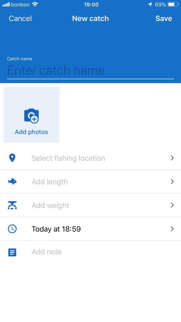Aplikacija za ribolov fishing points - dodaj ulov